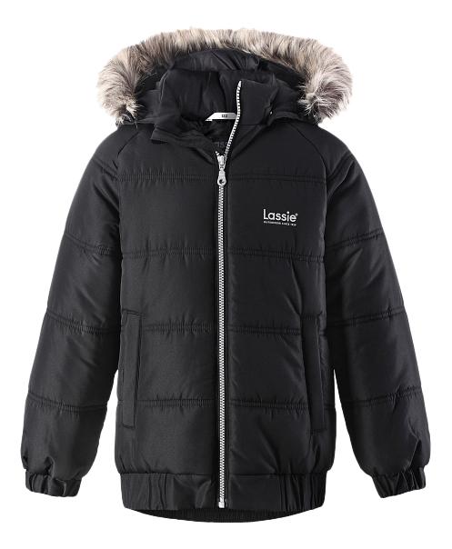 Купить Winter jacket черная 128 размер, Куртка детская Lassie Winter jacket черная р.128, Детские зимние куртки