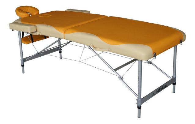 Массажный стол DFC Nirvana Elegant Premium оранжевый/бежевый фото
