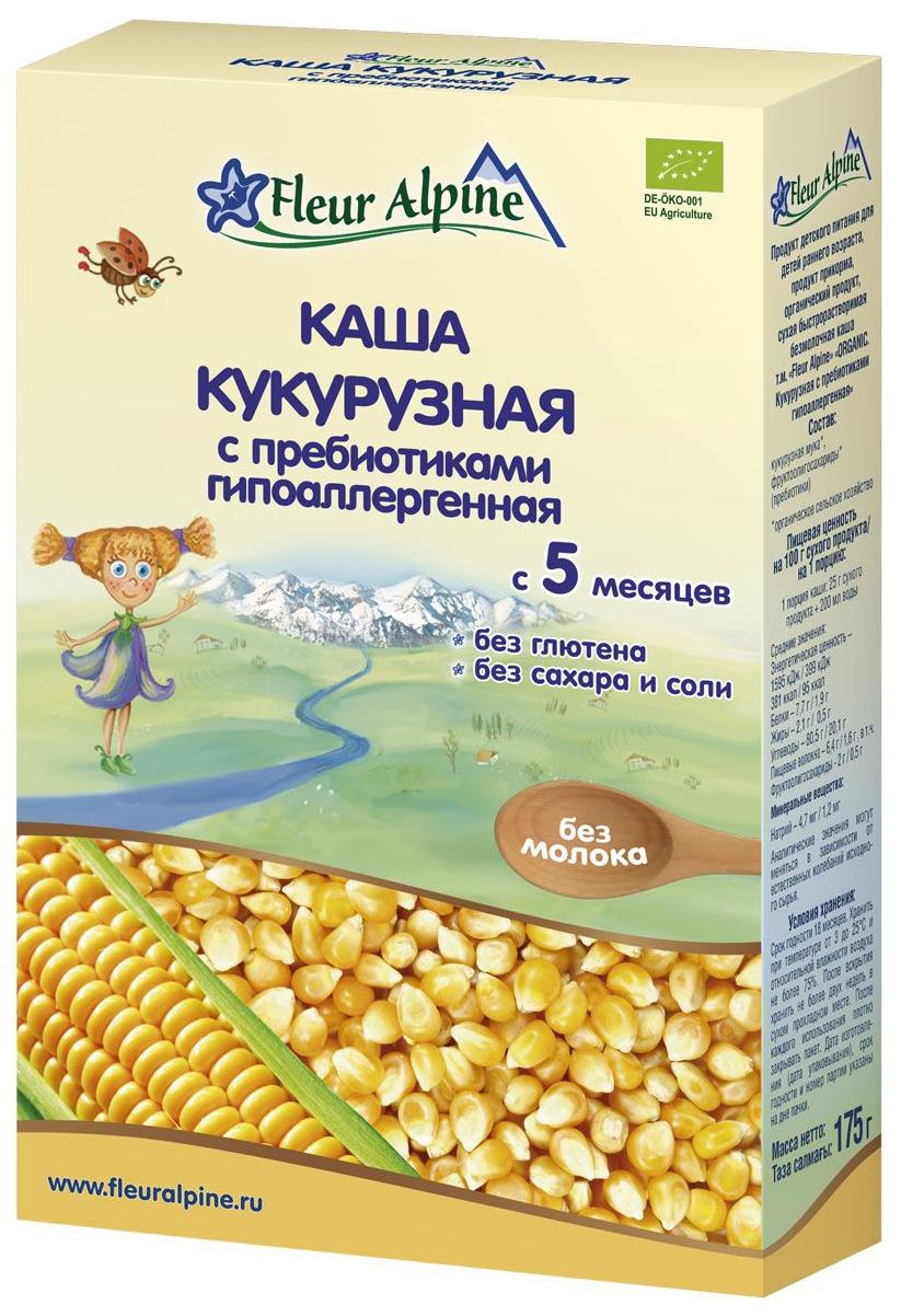 Купить Кукурузная с пребиотиками 175 г, Безмолочная каша Fleur Alpine Кукурузная с пребиотиками с 5 мес 175 г, Детские каши
