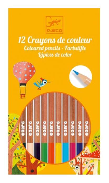Карандаши цветные Djeco 12 карандашей  - купить со скидкой