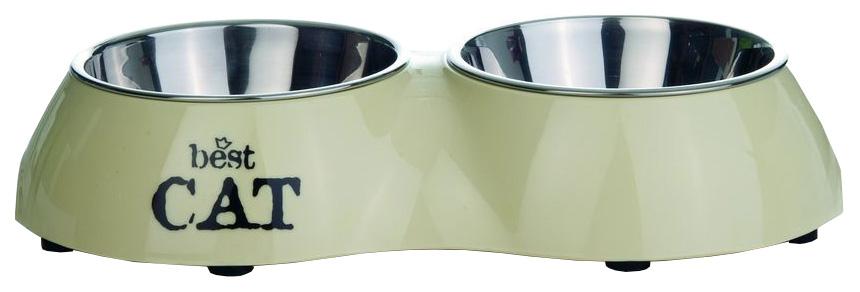 Двойная миска для кошек I.P.T.S, пластик, резина,