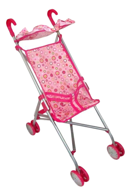 Коляска-трость для кукол Розовая Карапуз 63ACS-C3