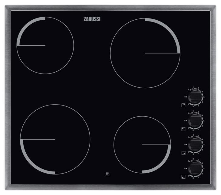 Встраиваемая варочная панель электрическая Zanussi ZEV56140XB Black