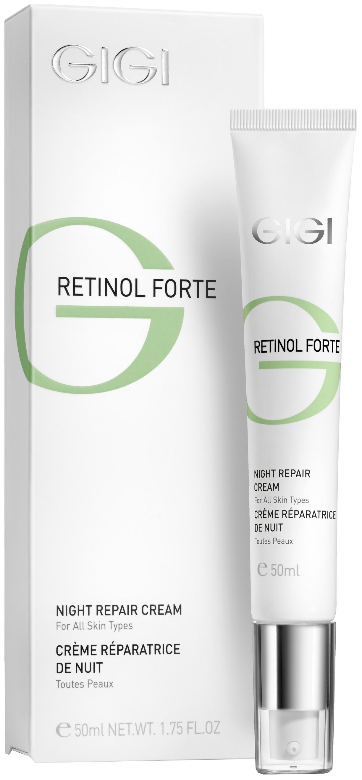 Крем для лица GIGI ночной восстанавливающий Retinol Forte для всех типов кожи 50 мл фото