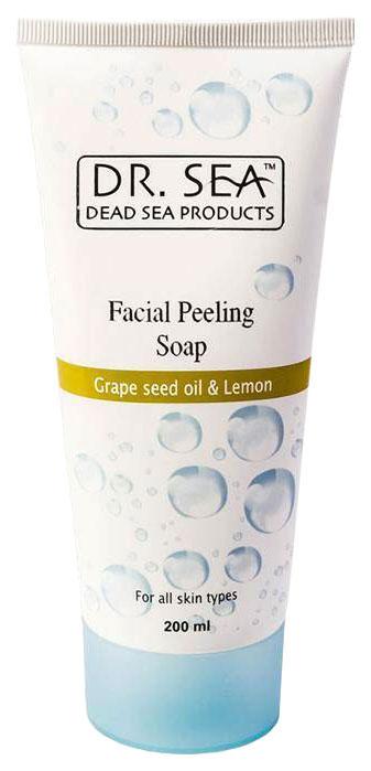 Купить Пилинг для лица Dr. Sea С виноградными косточками и лимоном 200 мл, Пилинг для лица с маслом виноградных косточек и лимона