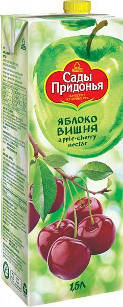 Нектар яблоко-вишня Сады Придонья осветленный 1.5 л