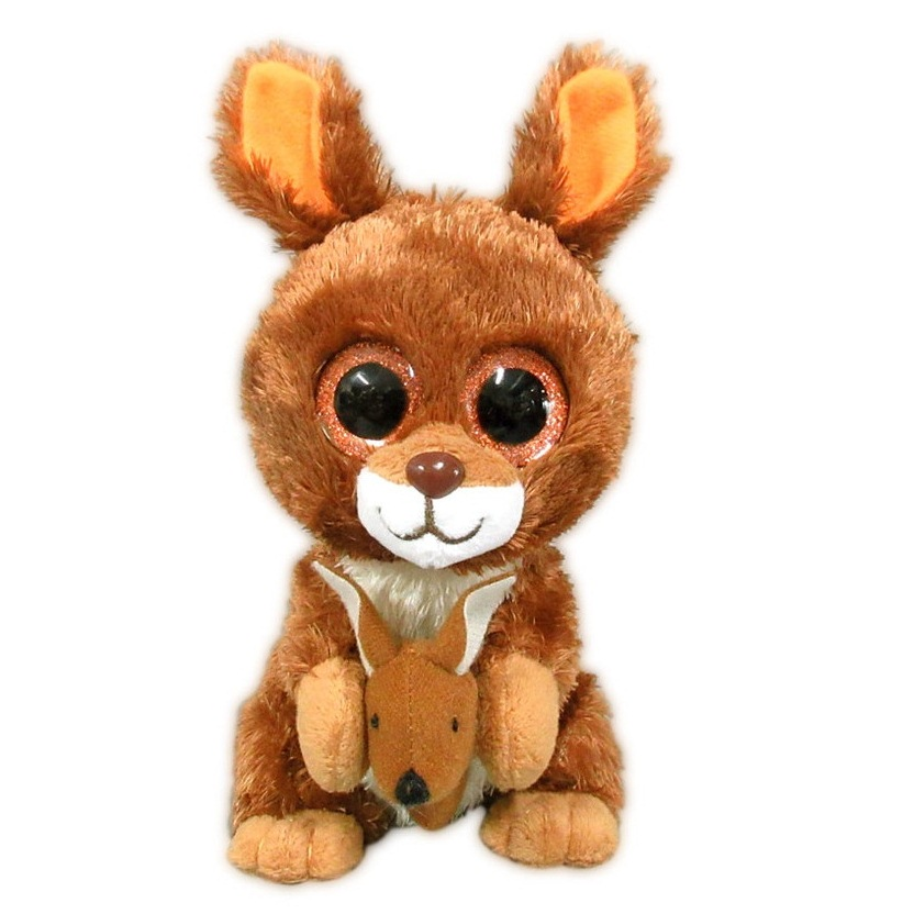 Купить Мягкая игрушка ABtoys Кенгуренок коричневый 15 см, Мягкие игрушки животные