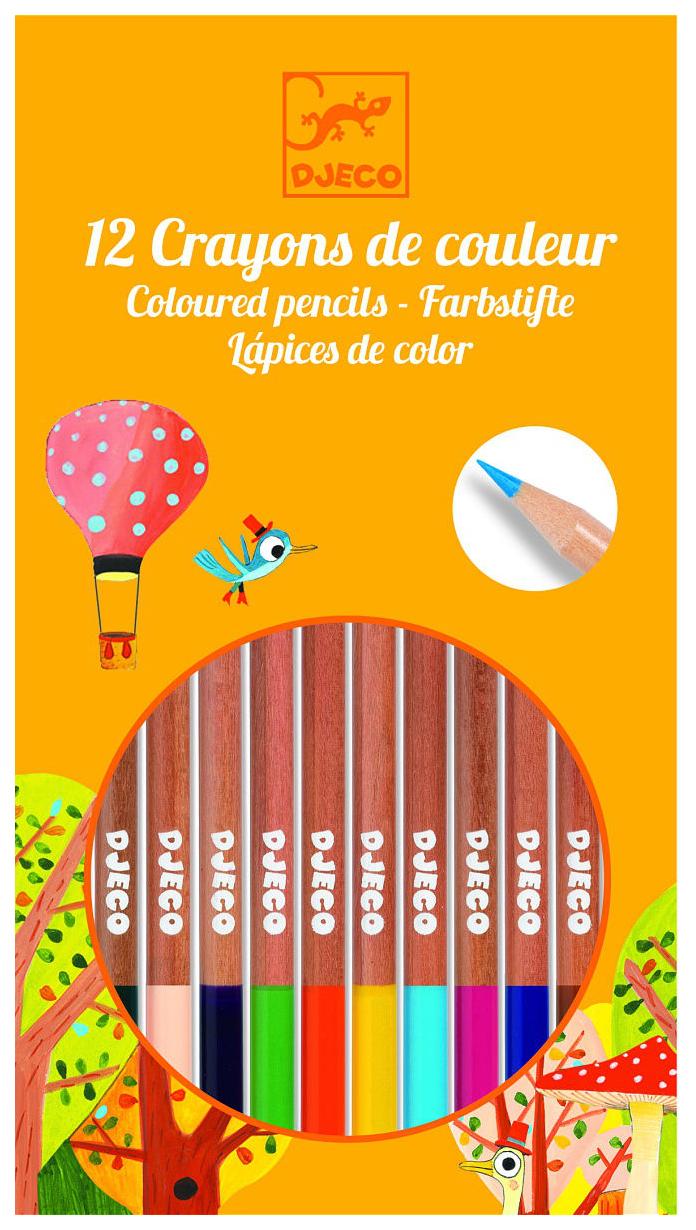 Карандаши цветные Djeco 12 карандашей, Цветные карандаши  - купить со скидкой