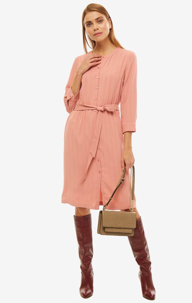 Платье женское TOM TAILOR розовое, 1013532-10879