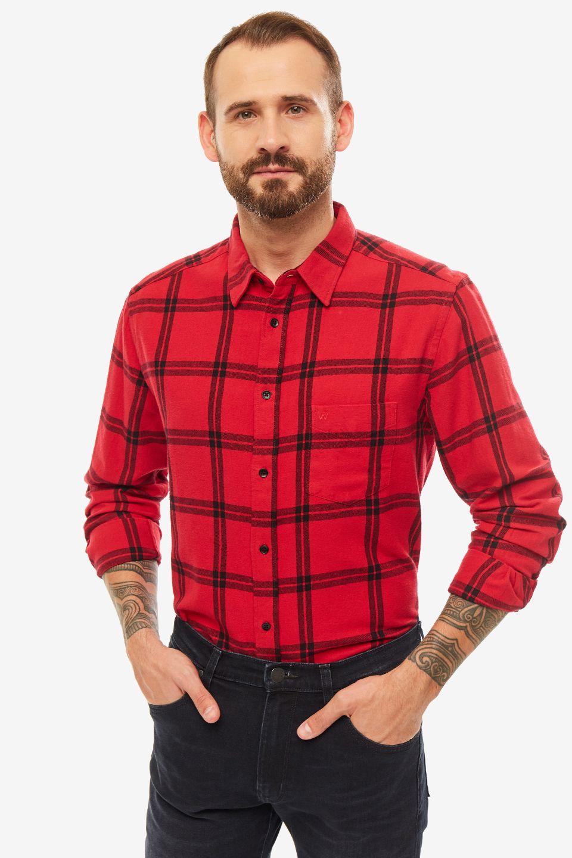 Рубашка мужская Wrangler красная