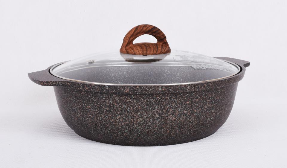 Кастрюля-жаровня антипригарная литая 3,0л Granit ultra original
