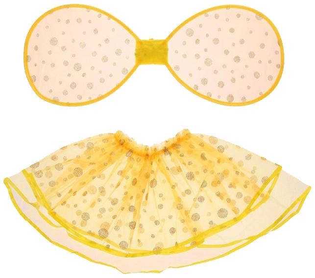 Карнавальный набор Маленькое чудо, 2 предмета: крылья, юбка, 3-6 лет, жёлтый