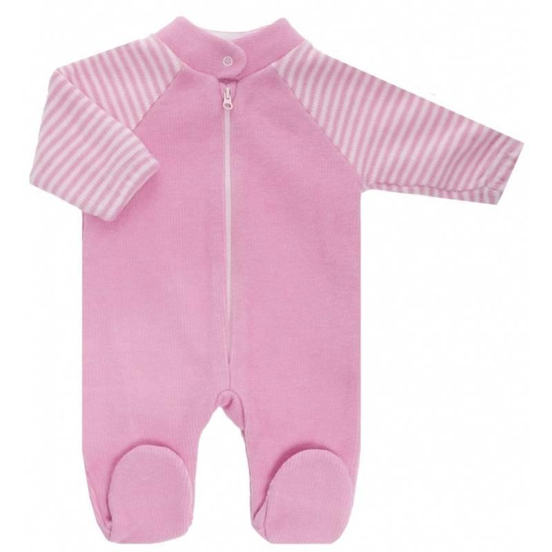 Купить 4-14 РОЗОВЫЙ, Комбинезон Lucky Child, цв. розовый, 68 р-р, Трикотажные комбинезоны для новорожденных