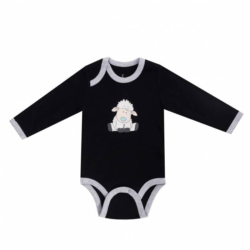 Купить Боди Diva Kids, цв. черный, 74 р-р, Боди и песочники для малышей
