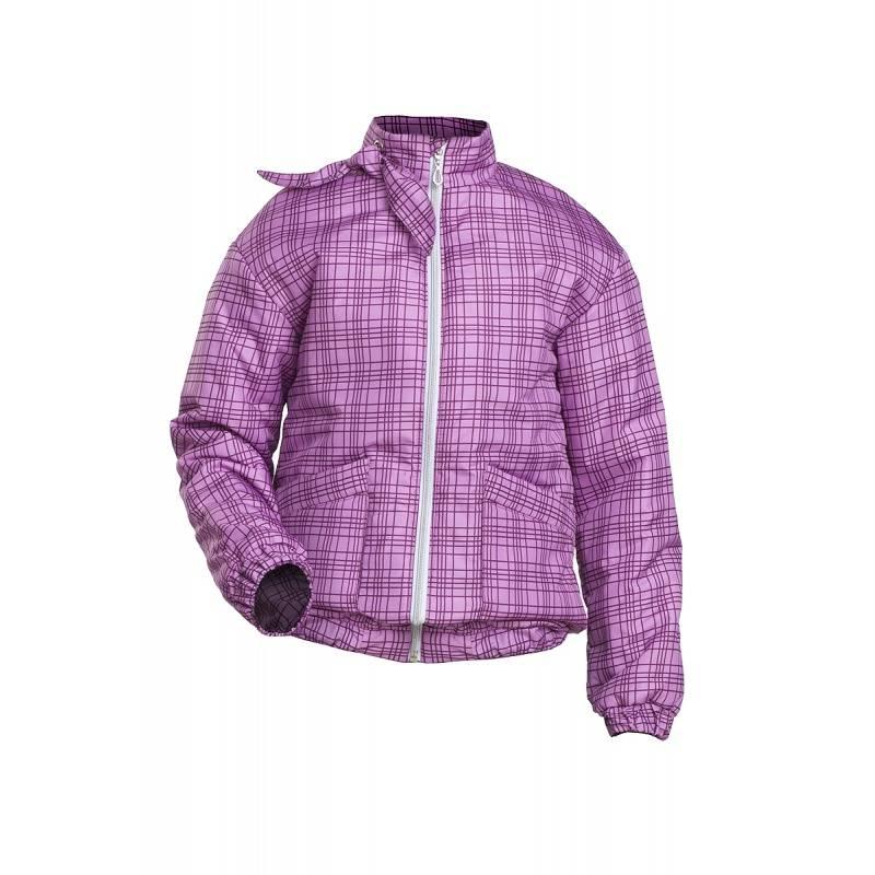 Купить Дд-0416, Куртка Клеточка URSINDO, цв. сиреневый, 116 р-р, Куртки для девочек