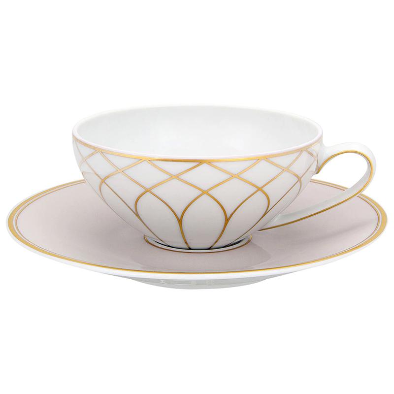 Чашка чайная с блюдцем 231мл Vista Alegre TERRACE, цвет белый, золотой