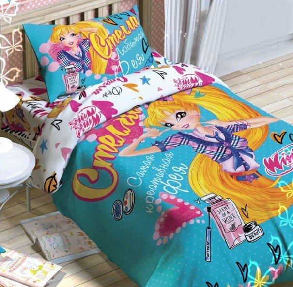 Постельное белье детское 1 5-спальное Этель Фея Стелла феи Winx
