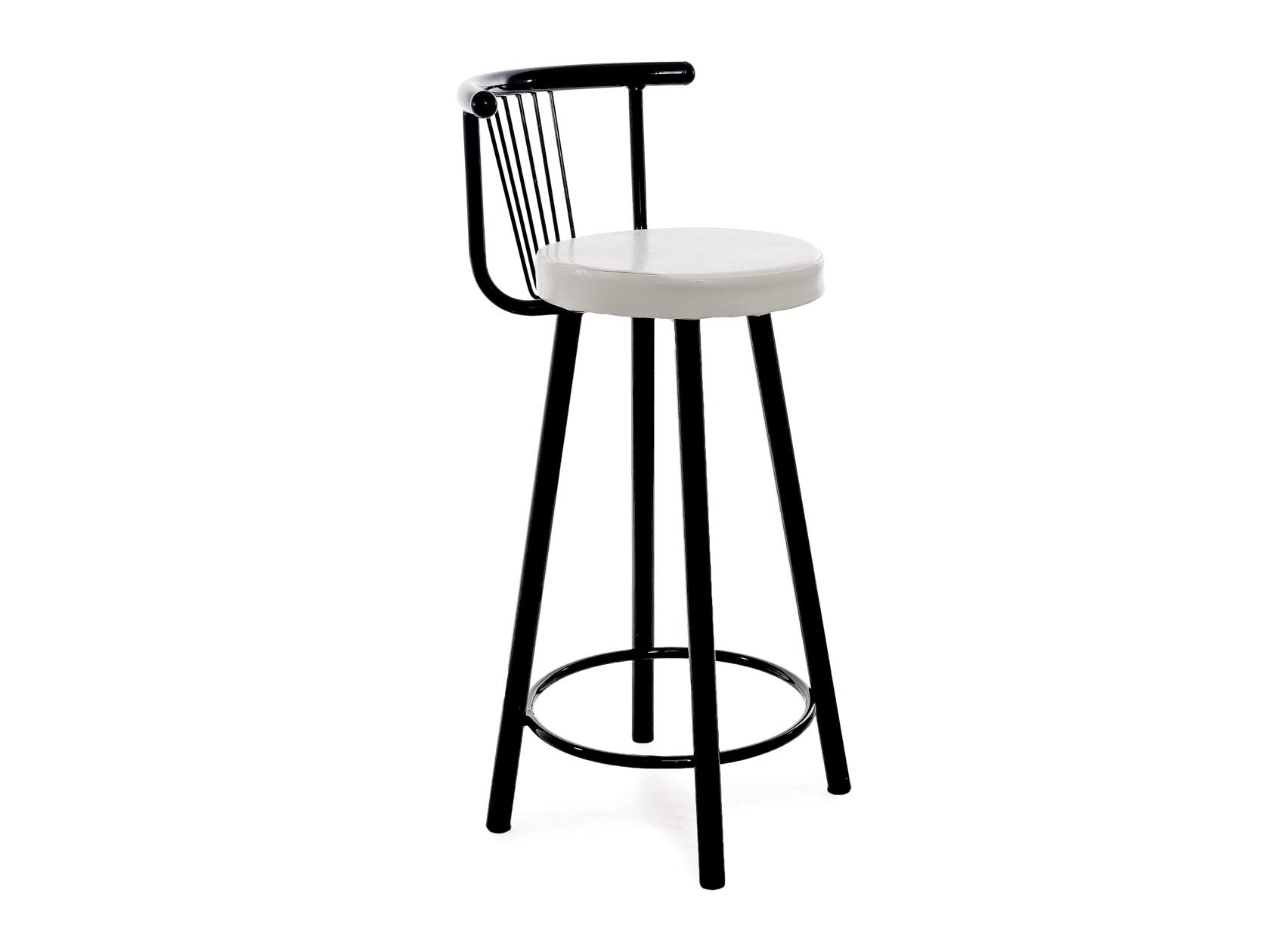 Полубарный стул Амис, черный/белый