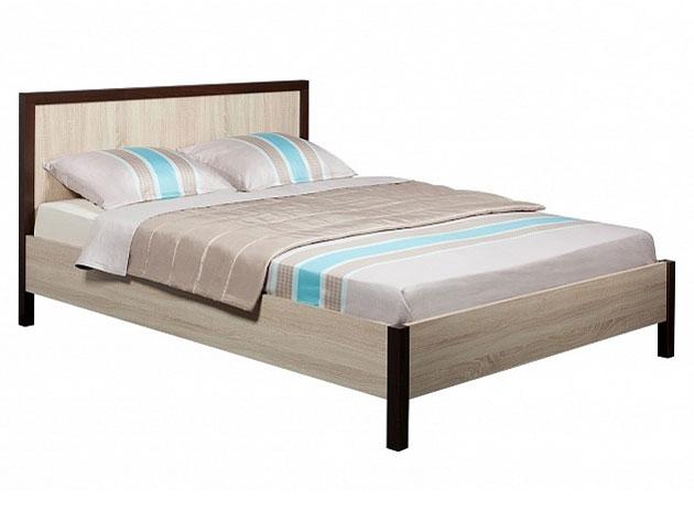 Односпальная кровать Глазов BAUHAUS 5 дуб сонома, орех шоколадный, 1200 Х 2000 мм