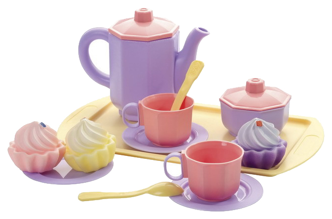 Игрушечная посуда Огонек Чайный С Кексами Принцесса