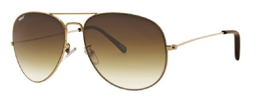 Солнцезащитные очки Zippo OB36 золотистые фото