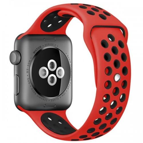 Ремешок GoodChoice Sport Style для Apple Watch 38-40mm Red-Black  - купить со скидкой