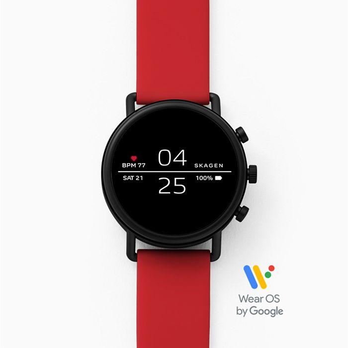 Смарт часы Skagen Falster Black/Red (SKT5113)