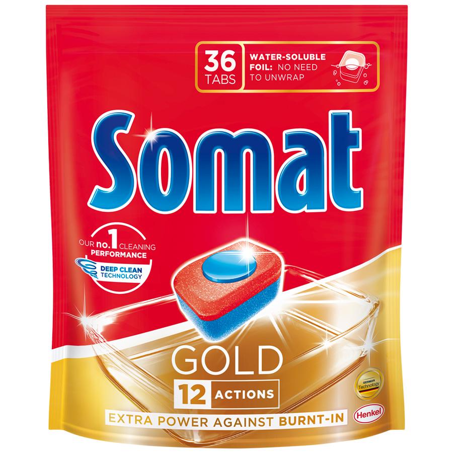 Таблетки для посудомоечных машин Somat Gold 36шт