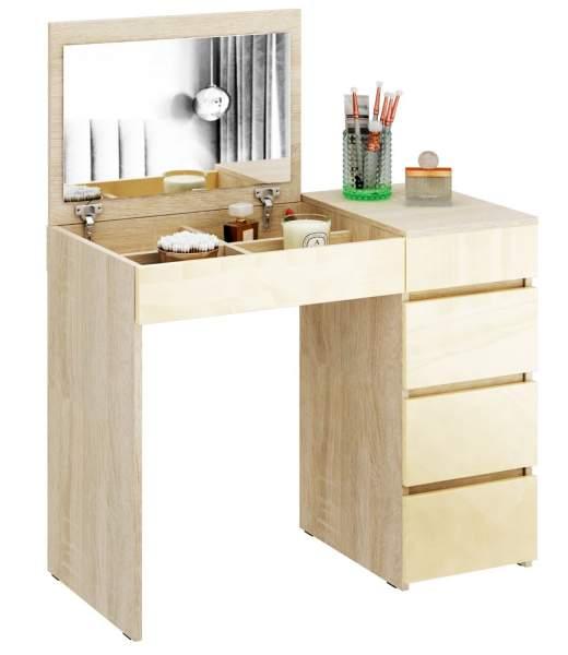 Туалетный столик Триверо 1 Глянец дуб сонома/бежевый