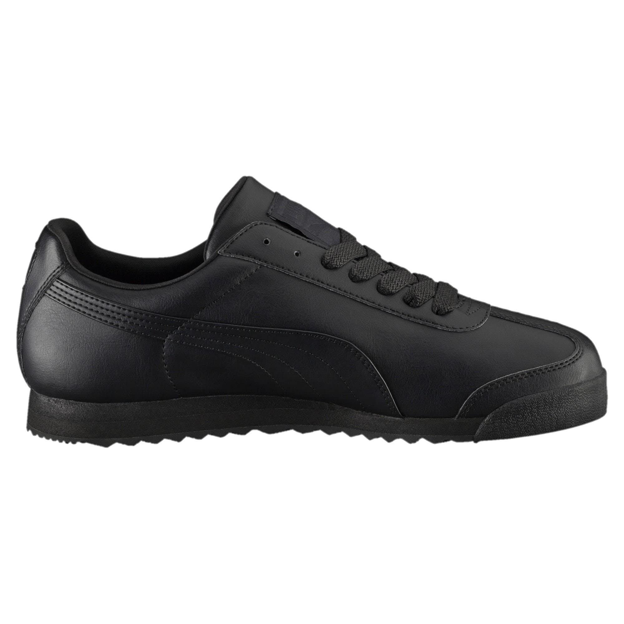 Кроссовки Puma Roma Basic, black/black, 9.5 UK фото