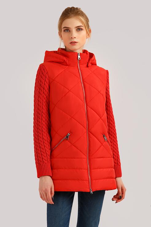 Куртка женская Finn Flare B19-12011 розовая S фото