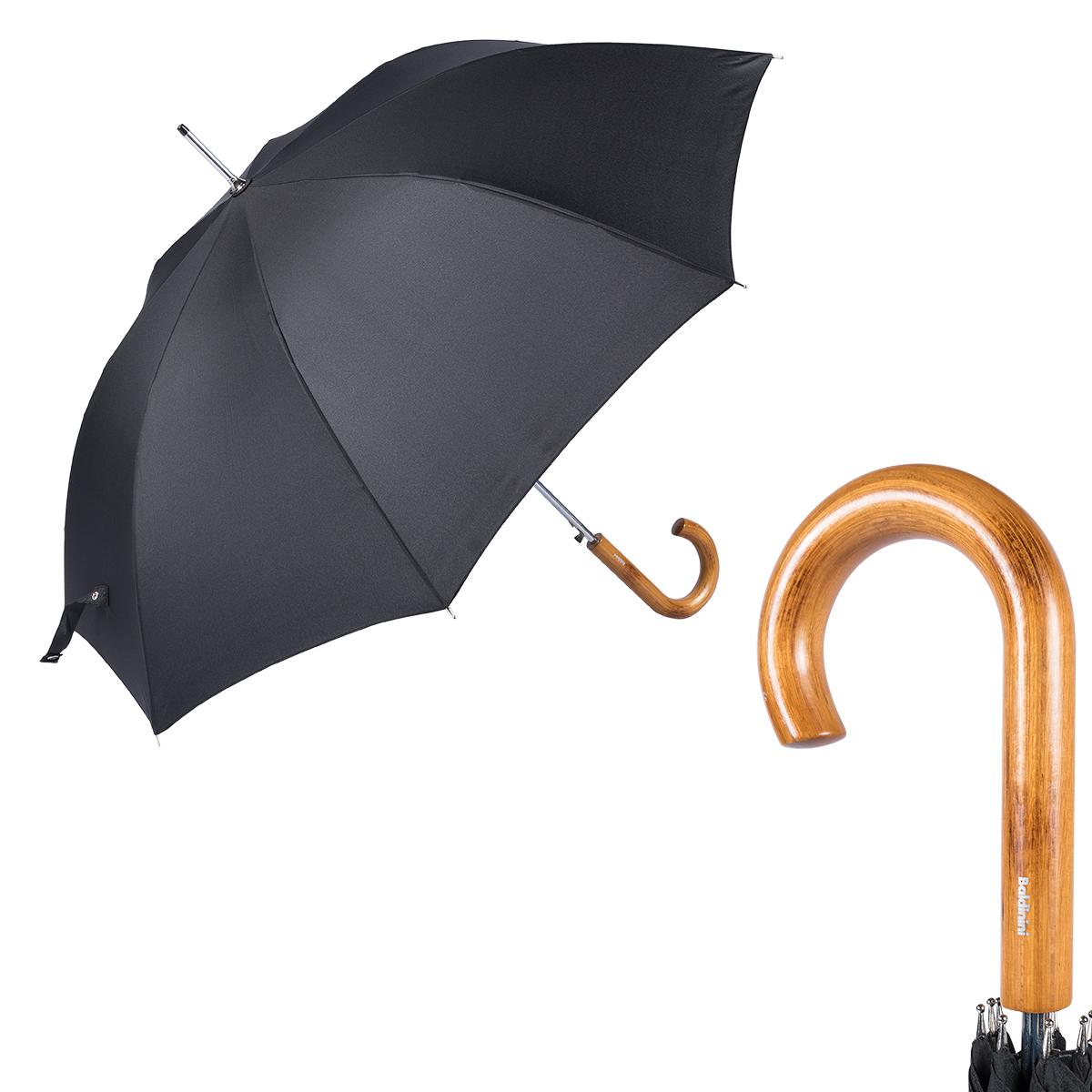 Зонт-трость унисекс Baldinini 740163-LA Legno Classic Black фото