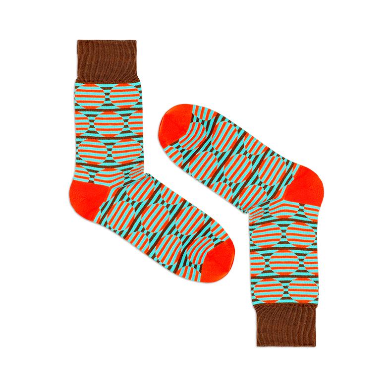 Носки унисекс Burning heels Круги разноцветные 42-45