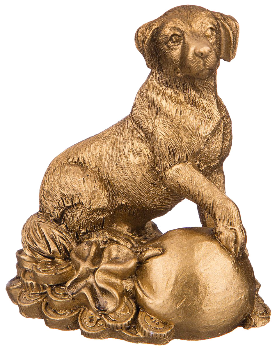 Статуэтка Lefard Собака 156 950 Золотистый