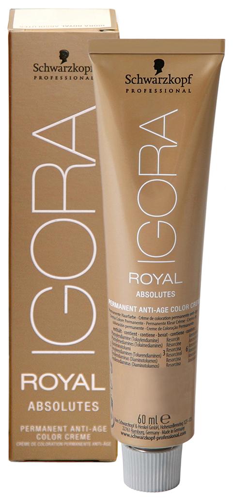 Купить Краска для волос Schwarzkopf Igora Royal Absolutes 9-10 Блондин сандрэ натуральный, 60 мл, Schwarzkopf Professional