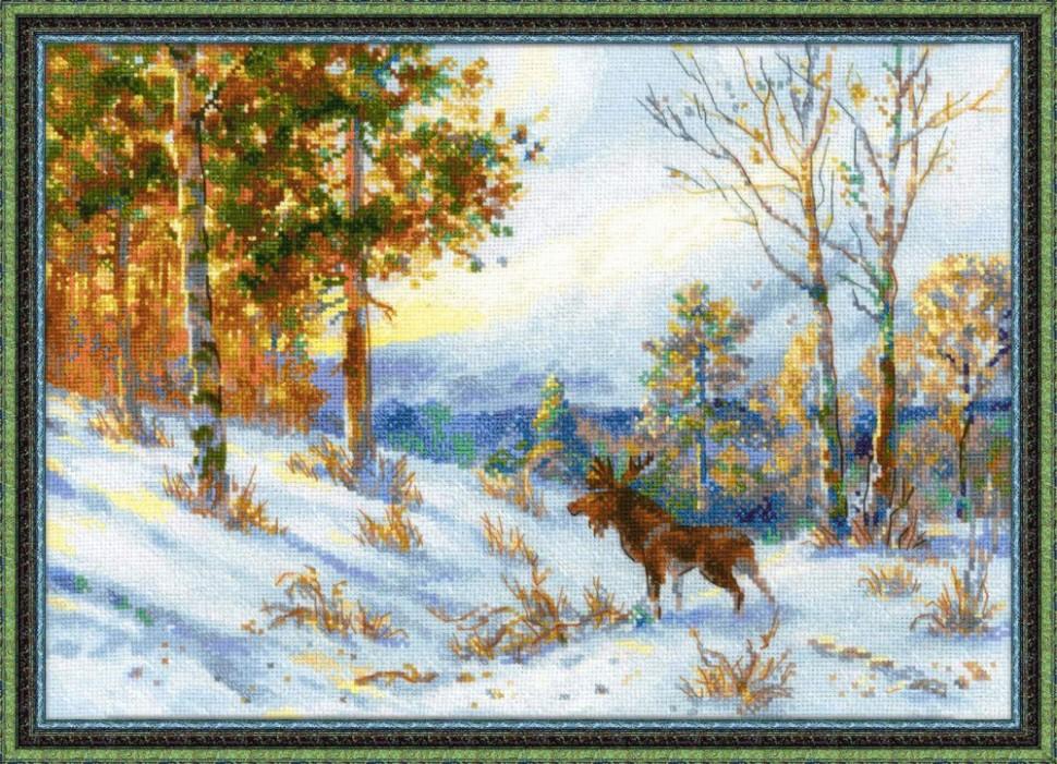 """Набор для вышивания арт,СС-1528 """"Лось в зимнем лесу"""
