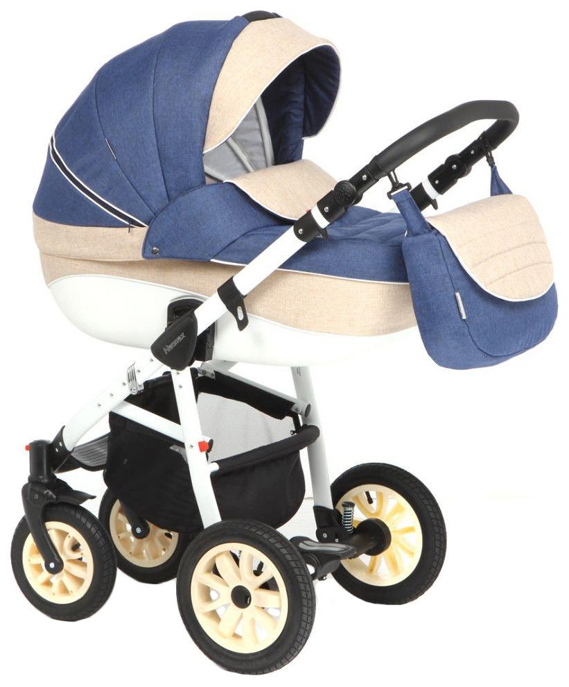Купить Коляска 3 в 1 Adamex Neonex (синий, молочный, бежевый TIP12B), Детские коляски 3 в 1