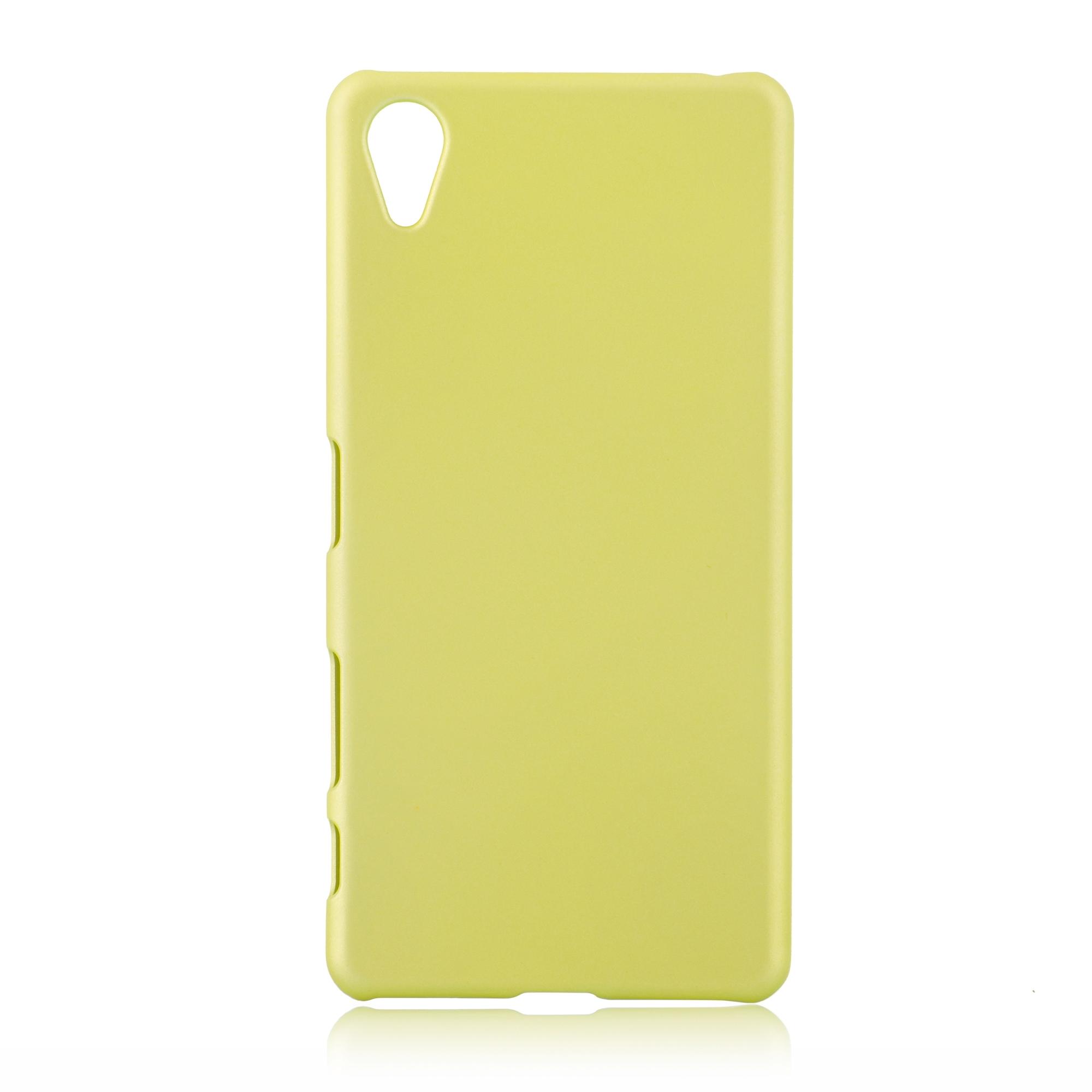 Пластиковая накладка Brosco Soft-touch для Sony Xperia X Perfomance, золотой лайм