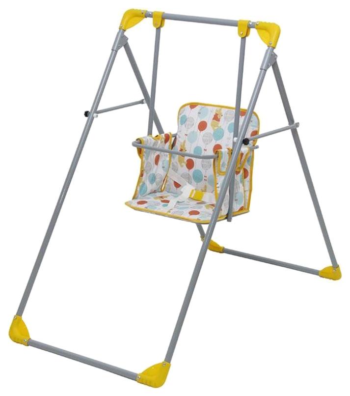 Купить Качели Polini kids Disney baby Медвежонок Винни Чудесный день желтый, Детские качели