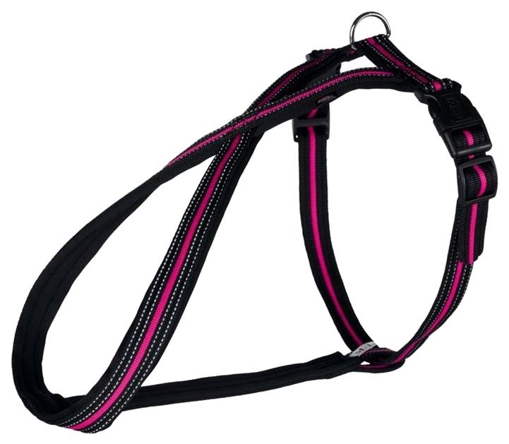 Шлейка для собак Trixie Fusion XXL черная с розовым