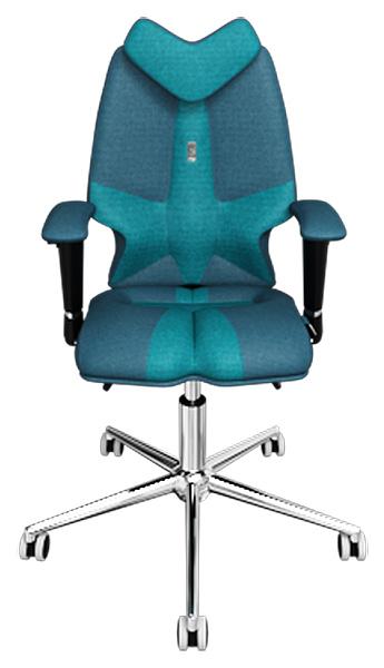 Детское кресло Kulik System Fly, азур, отделка Duo color, Джинс/Бирюза