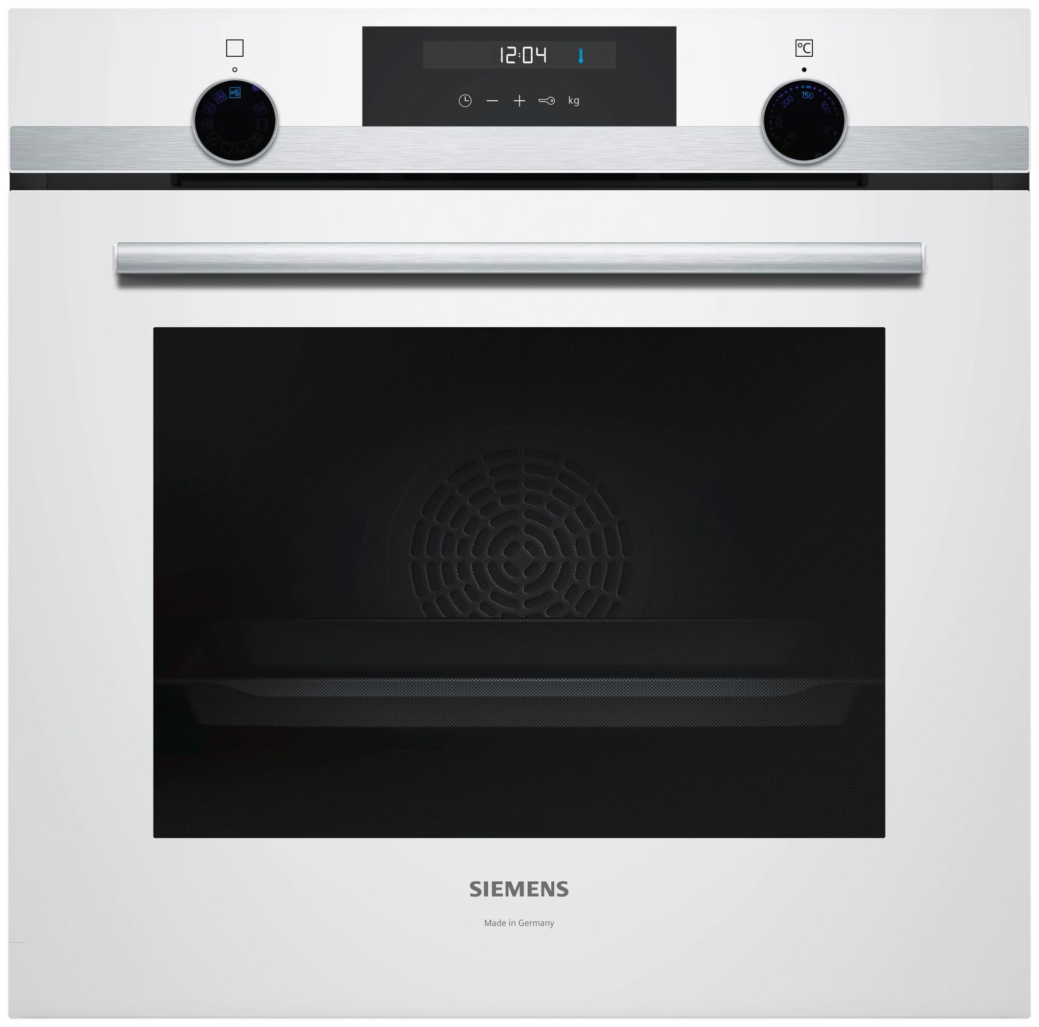 Встраиваемый электрический духовой шкаф Siemens HB537GEW1R White