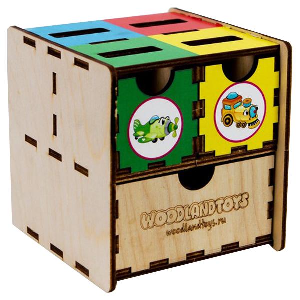 Развивающая игрушка Woodland Комодик-куб Транспорт фото