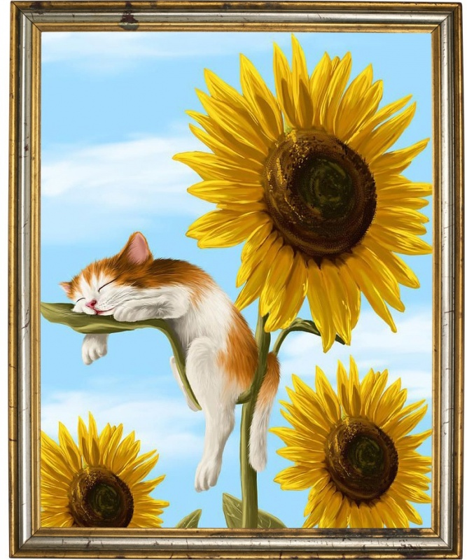 Мозаичная картина Кот - соня 304001