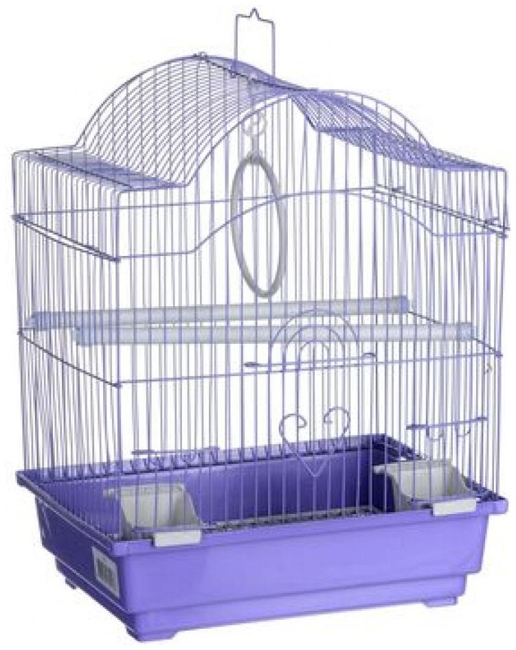 Клетка для птиц Kredo Цветная фигурная 30х23х39