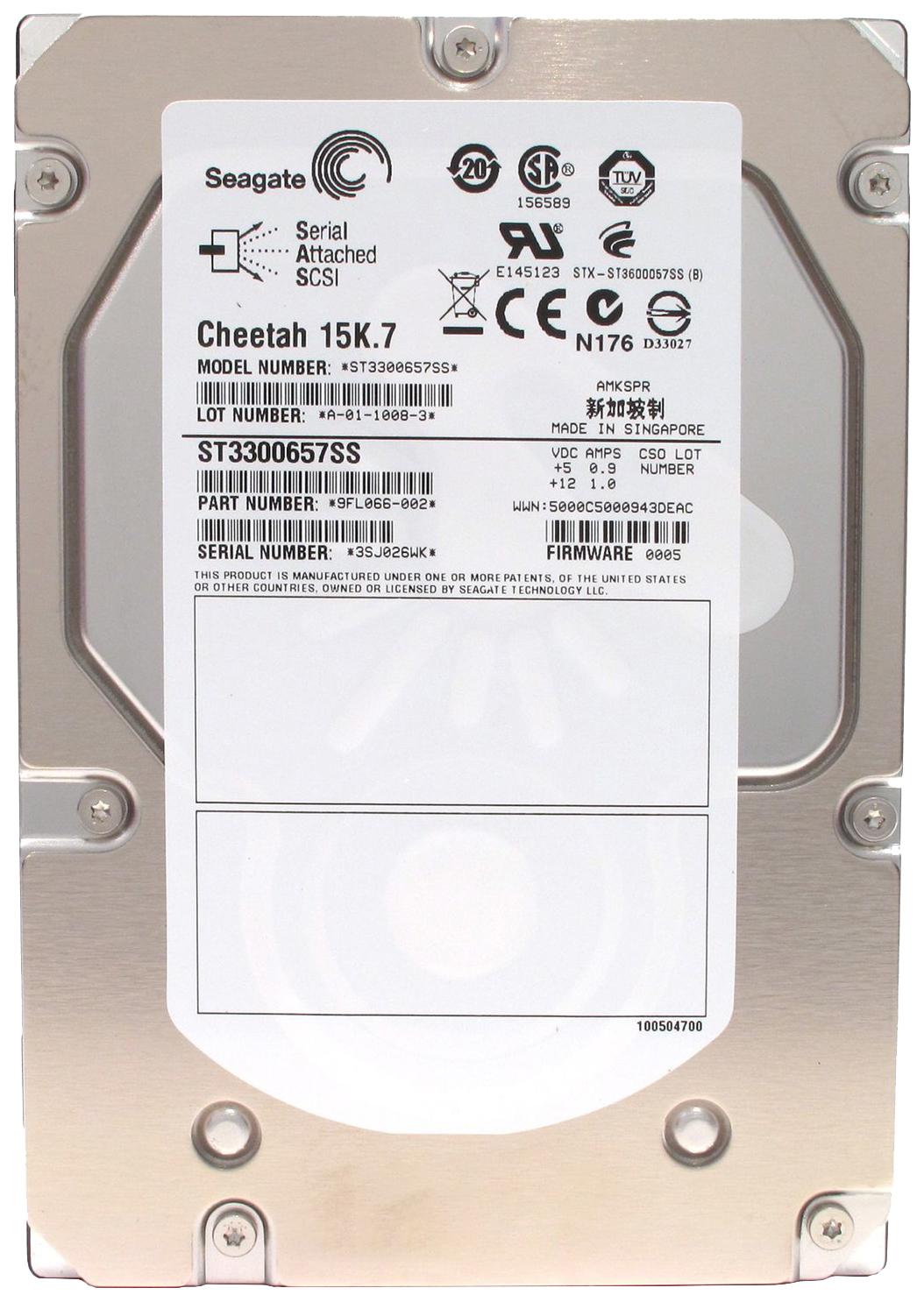 Внутренний жесткий диск Seagate Cheetah 15K.7 300GB (ST3300657SS)