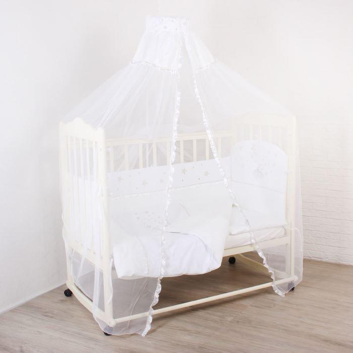 Комплект в кроватку Малышок, 7 предметов, цвет: белый 1441