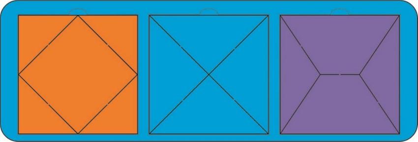 Головоломка Собери квадрат, 3 фигуры (уровень 2) 630148