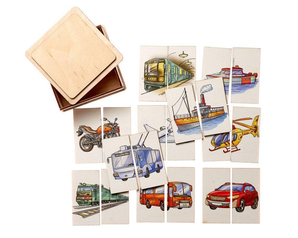 Развивающая игрушка Smile decor Картинки-половинки Транспорт П214