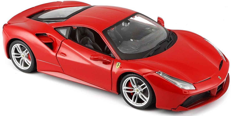Maisto Машинка сборная, красная - Ferrari 488 GTB 1:24